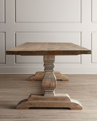 Best 25 Tressel Dining Table Ideas On Pinterest  Trestle Tables Classy Natural Wood Dining Room Tables Decorating Inspiration