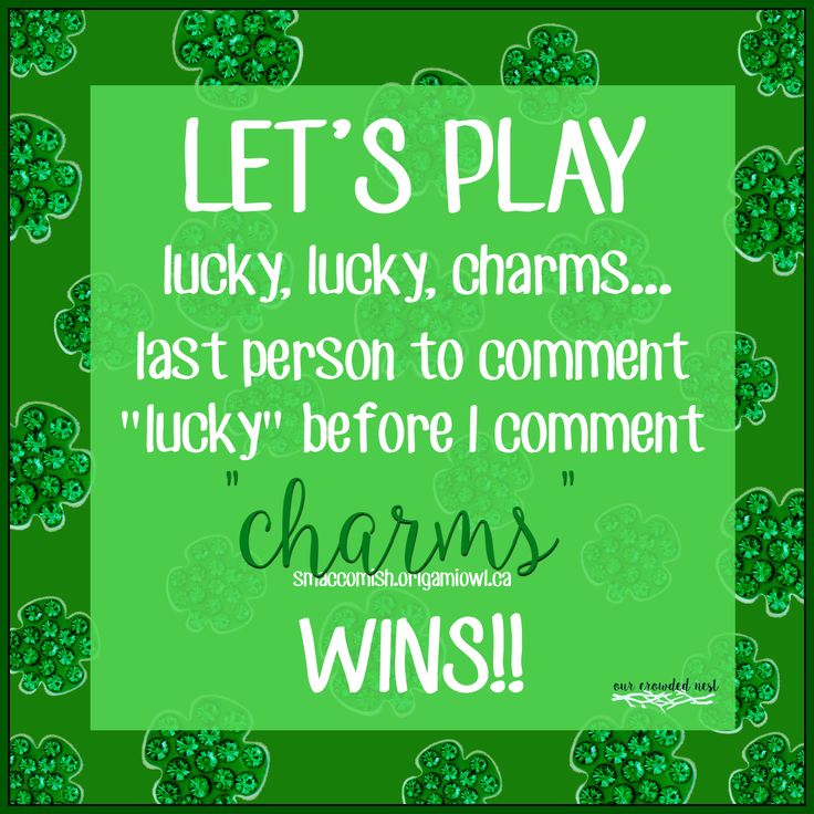 St Patrick's Day Facebook Party game