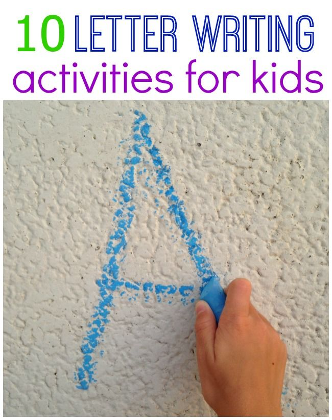 Fun Ways to Practice Writing Letters » The Pleasantest Thing