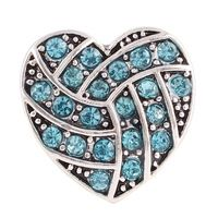 10 pieces/a lot wholesale  Crystal Hearts & Love 18 Snap Button jewelry  For women's Gift DIY Charm Snap Button Bracelets