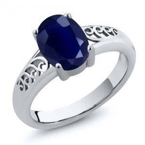 8. 1.02 Ct Octal Blue Sapphire 925 Sterling Silver Ring