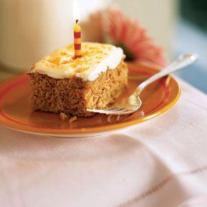 Lower fat Carrot Cake Sheet Cake.