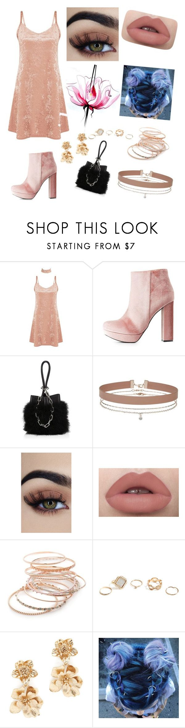 """""""Untitled #15"""" by minion-nini ❤ liked on Polyvore featuring Charlotte Russe, Alexander Wang, Miss Selfridge, Red Camel, GUESS, Oscar de la Renta and Lancôme"""