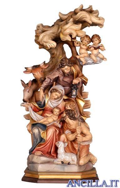 Natività Raffaello www.ancilla.it   cm 80 € 2500  non dipinta legno naturale € 1800