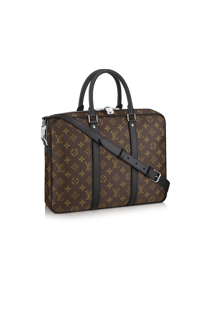 Send him off to work in style with this modern briefcase from Louis Vuitton. The Porte-Documents Voyage in the classic Monogram will be a favorite gift for the business man in your life.