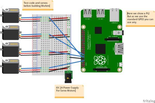 MeArm Setup for the Raspberry Pi