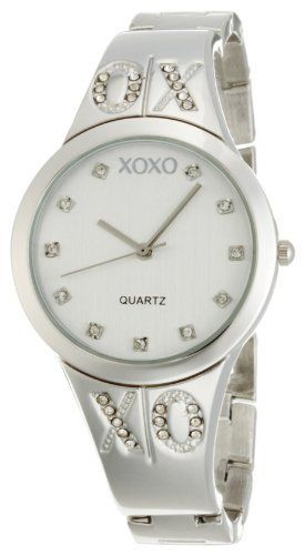 XOXO Women's XO5216 Silver Dial Silver-tone Half Cuff and Half Bracelet Watch XOXO. $19.99. Durable mineral crystal. Quality Quartz movement with analogue-display. Half bangle and half bracelet watch. Jewelry clasp. Clear rhinestone accent