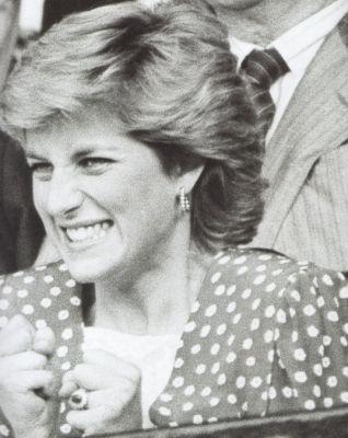 Princess Diana excited The wimbledon final