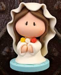 Resultado de imagen para virgencitas y angeles en porcelana fria