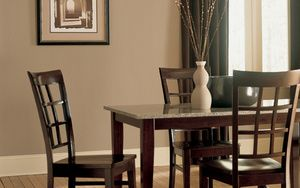 Brown Paint Color Ideas: Brown Paint Color:  Neutral Dining Room With Hints of Brown