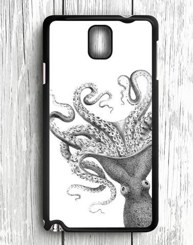 White Black Octopus Samsung Galaxy Note 3 Case