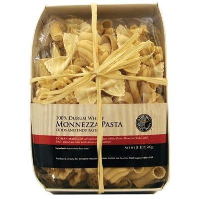 "Monnezza (""Odds & Ends"") Pasta from Italy - This kaleidoscopic mix of different pasta corta (short pasta) by Casina Rossa is both versatile and visually appealing. Artisan made with all-natural Italian wheat flour. Toss simply with red sauces or use to make a superb macaroni and cheese."