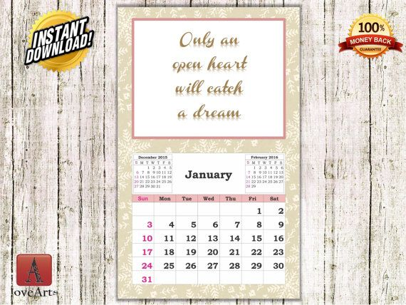 Hey, I found this really awesome Etsy listing at https://www.etsy.com/listing/257574186/instant-download-calendar-2016-for-woman