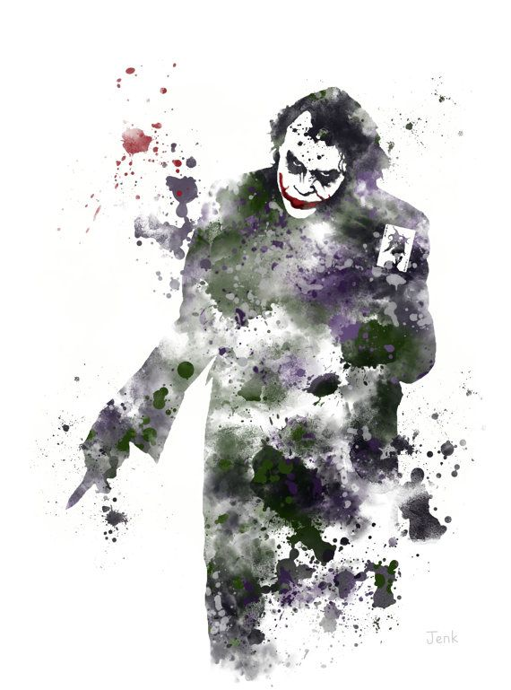 The Joker Batman ART PRINT illustration Supervillain by SubjectArt