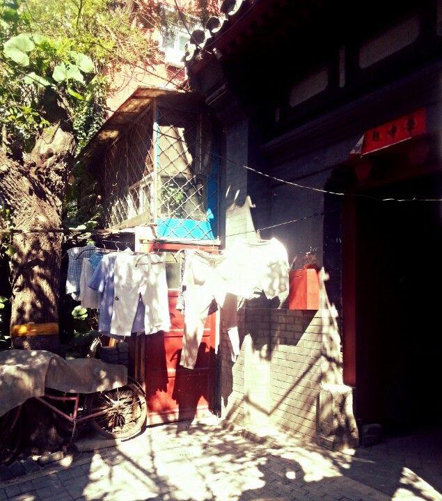 Drying the laundry #hutong #Beijing