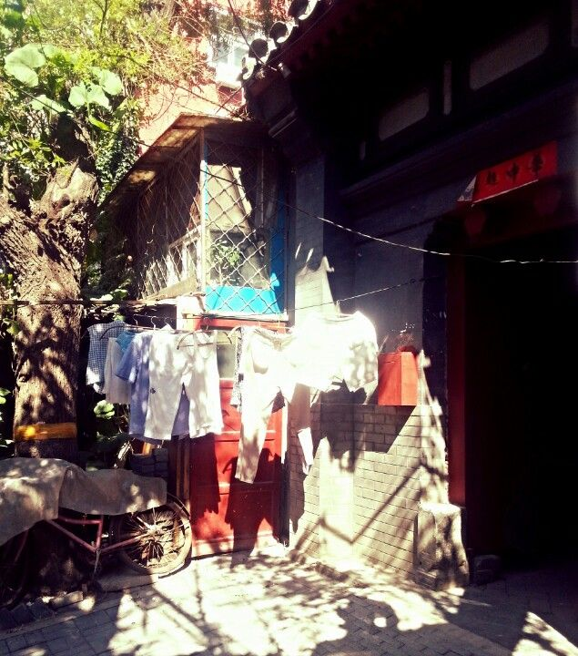 Drying the laundry #hutong #Beijing