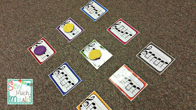 Recorder Tic-Tac-Toe.  LOVE this idea for centers while doing Recorder Karate!