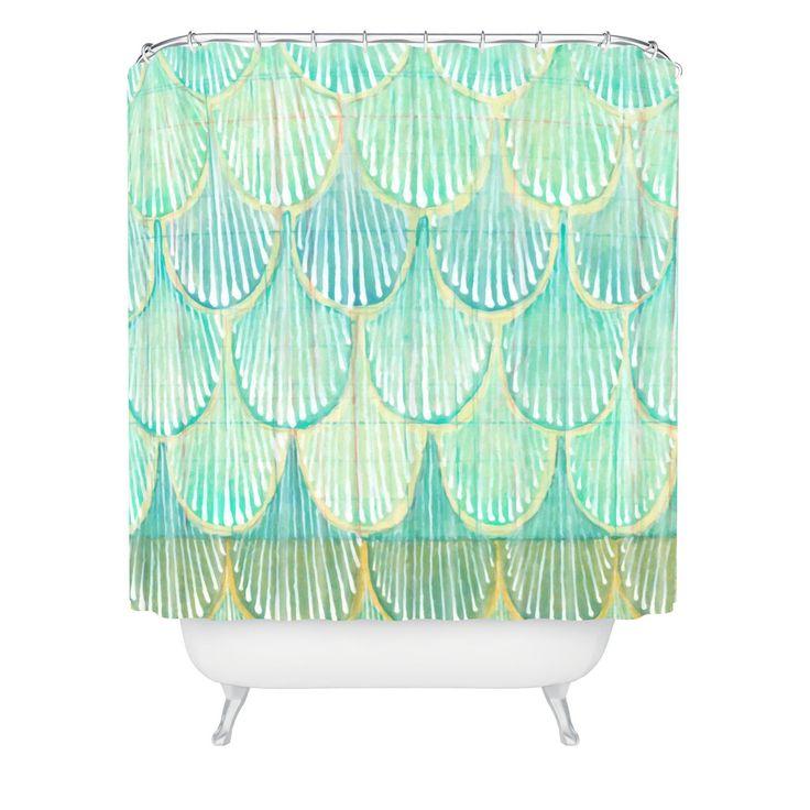 Cori Dantini Turquoise Scallops Shower Curtain | DENY Designs Home Accessories