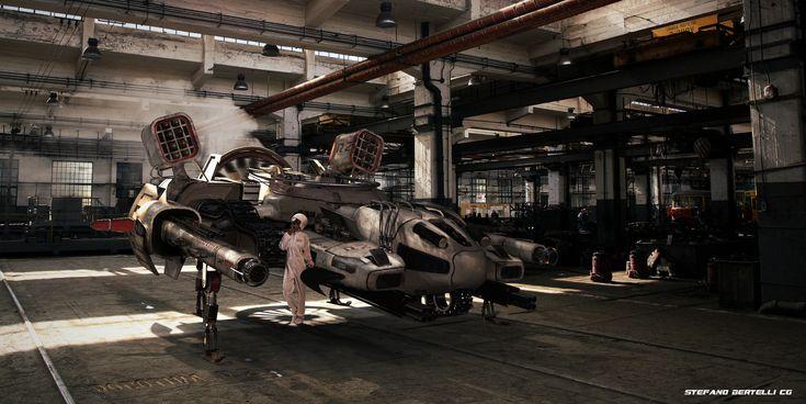 ROBOTIKA R 2  - 3D ENVIRONMENT, Stefano bertelli on ArtStation at https://www.artstation.com/artwork/AodZq