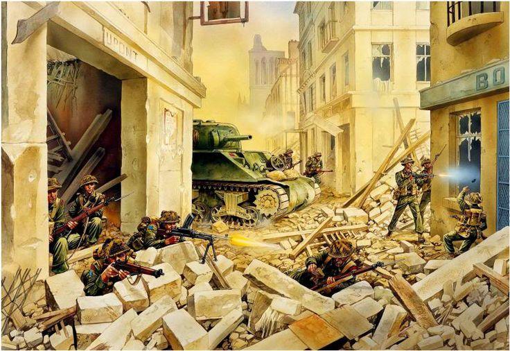 Operation Charnwood: The Regina Rifles streetfighting in Caen July 1944.