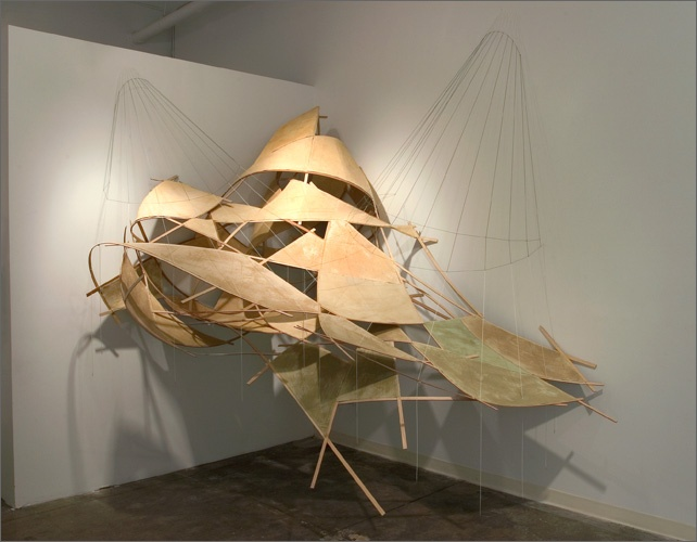 string and wood sculpture by eric eley: Ericeley