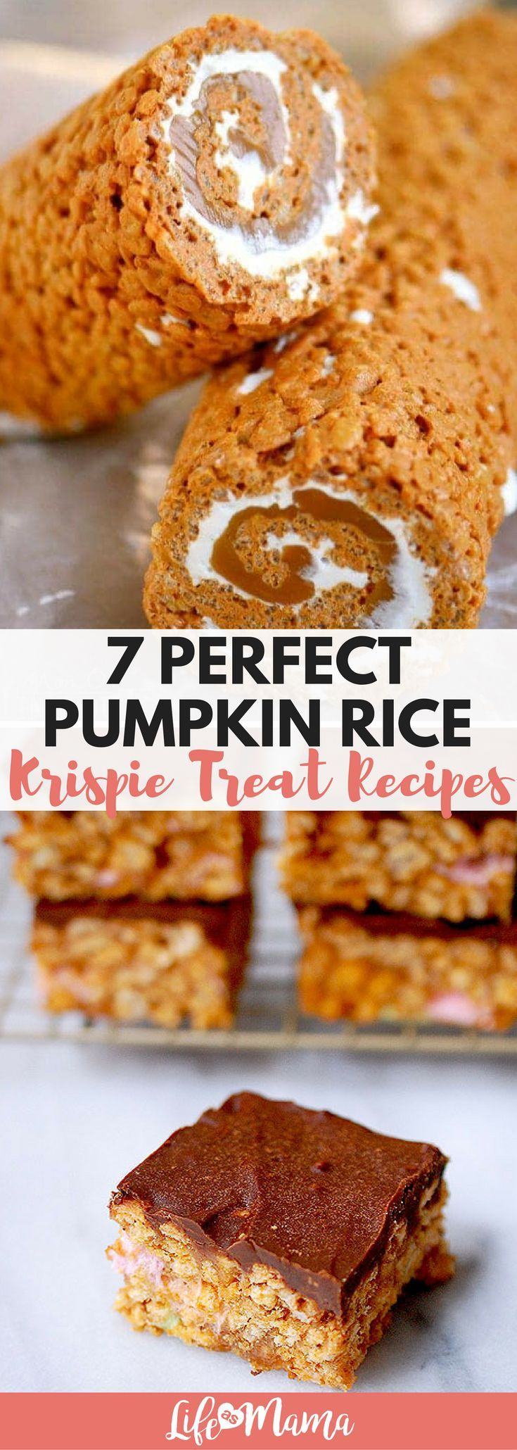 These pumpkin rice krispie treats all look delicious!! Can't wait for real Fall weather!