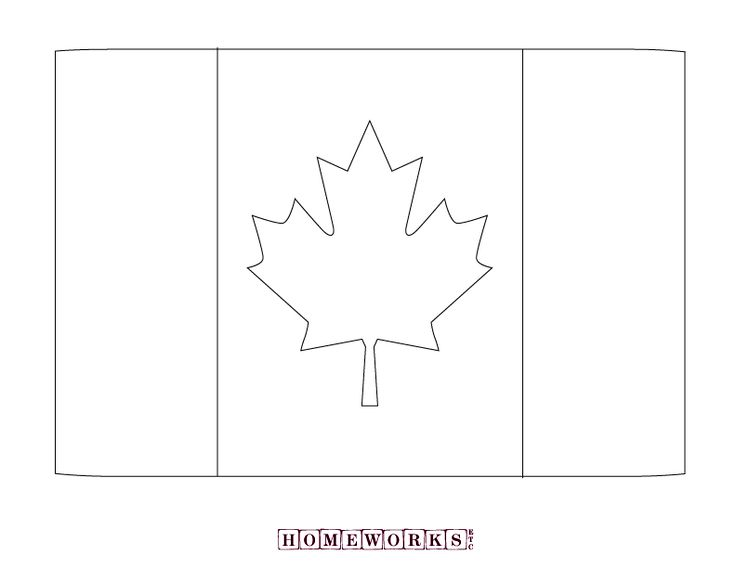 Happy Canada Day!  printable flag coloring  page   Homeworks Etc
