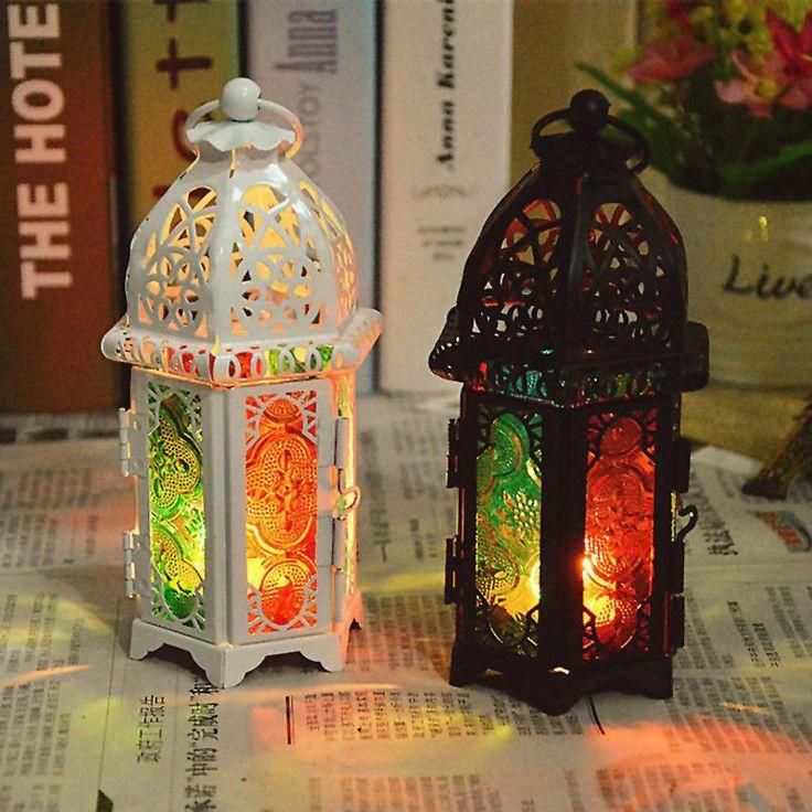 vintage Candle Hollow Holder Metal Lantern Hanging Candlestick Tealight Cage Bir #Unbranded #Europe