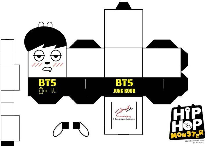 BTS Hip Hop Monster Jungkook Papercraft by ill-dope-swag.deviantart.com on @DeviantArt