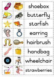 ESL kids worksheets: Compound words