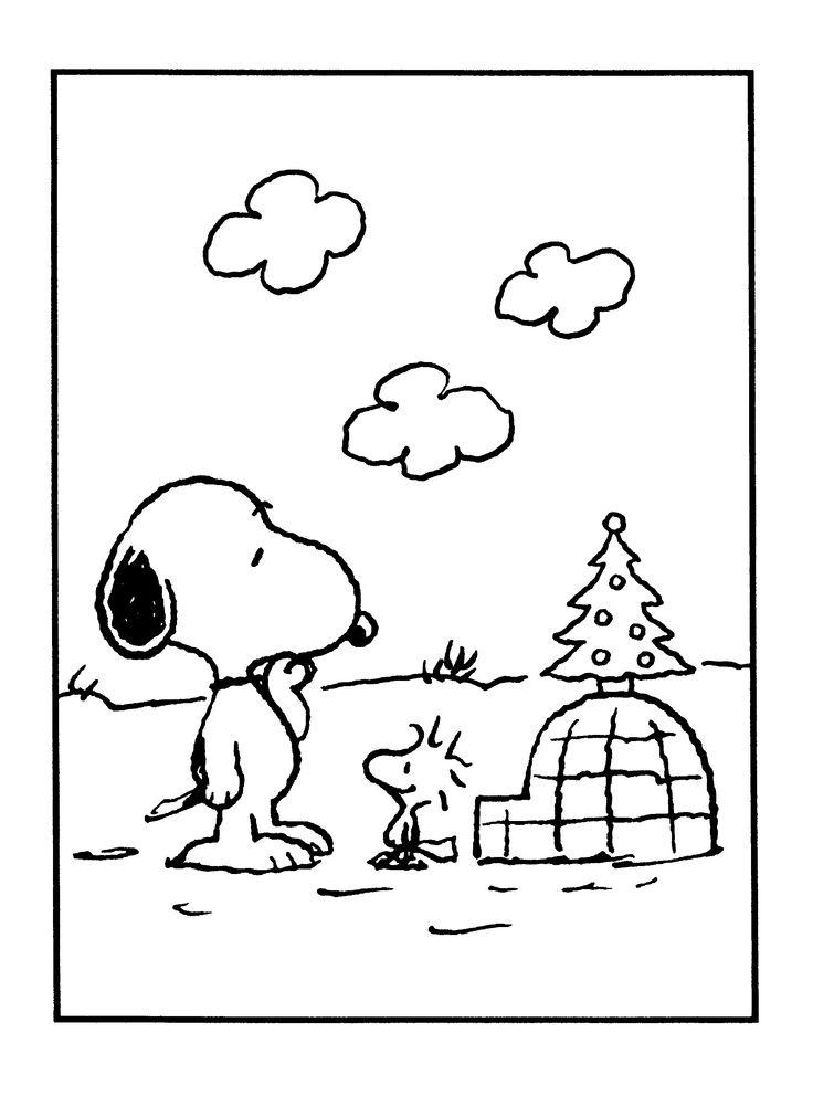 Charlie Brown Christmas Tree coloring page