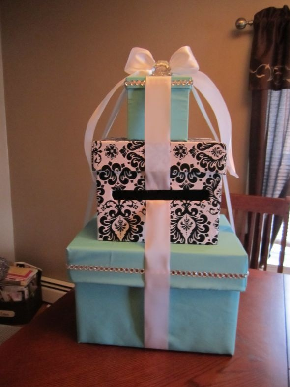 DIY Tiffany & Damask Cardbox :