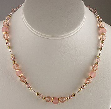 Free Bead Jewelry Making Ideas | jewelry making idea blushing rose necklace how to make jewelry free ...