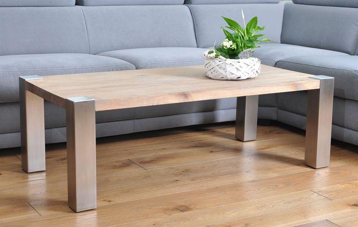 Stolik Tenno Inox - Dąb Naturalny - The Wood Company - Producent mebli drewnianych