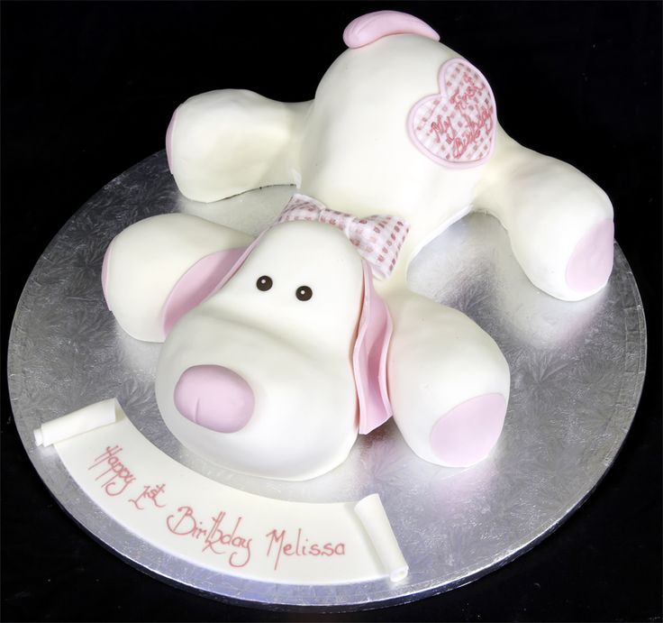 Puppy dog cake!  Done by the London Cake Company Ltd. - love their cakes!