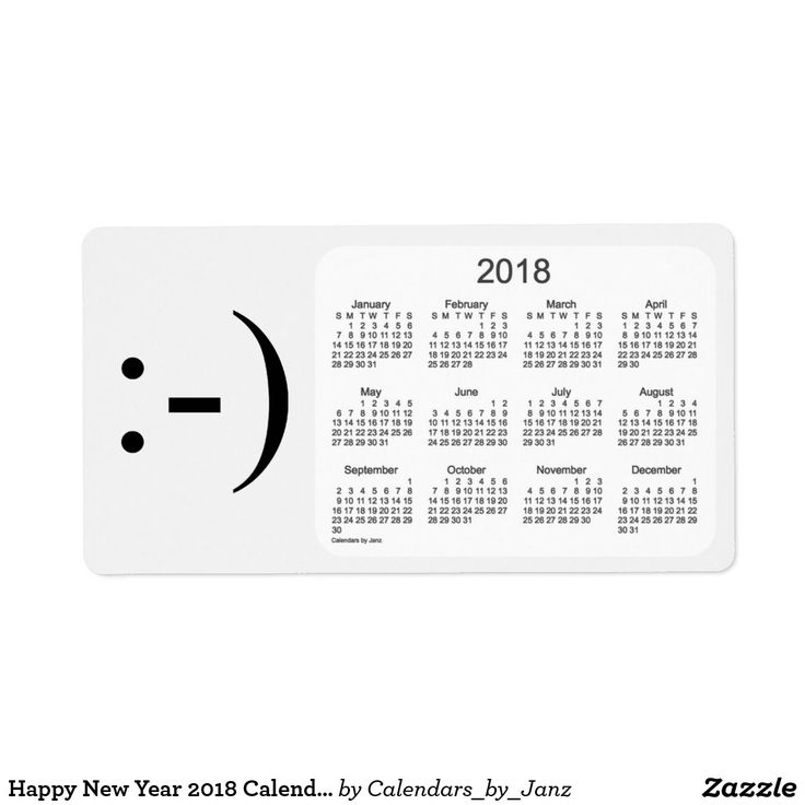 Happy New Year 2018 Calendar by Janz Label