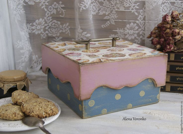 """Купить Шкатулка """"Сладкий стол"""" - Декупаж, розовый, подарок, прованс, прованский стиль, кантри"""