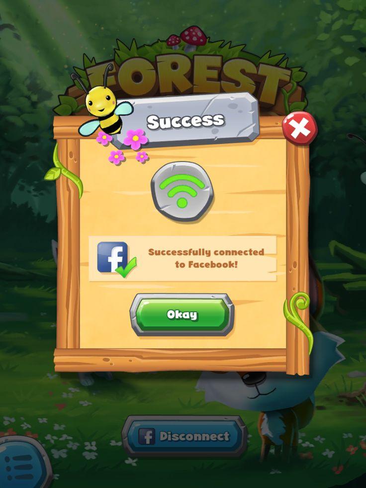 Forest Home | Facebook Confirmation| UI, HUD, User Interface, Game Art, GUI, iOS, Apps, Games, Grahic Desgin, Puzzle Game, Maze Games, Brain Games | www.girlvsgui.com