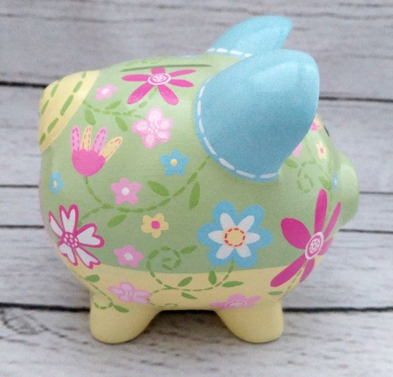 Jardín de Daisy artesanales pintadas cerámica personalizada