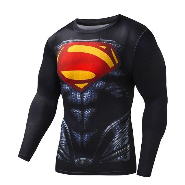 Nueva camiseta de los hombres más tamaño camisa de compresión de secado rápido superman batman iron man fitness clothing hombres culturismo crossfit en Camisetas de Ropa y Accesorios en AliExpress.com | Alibaba Group