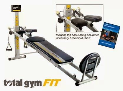 Chuck norris new total gym fit home gym total gyms and for Gimnasio total