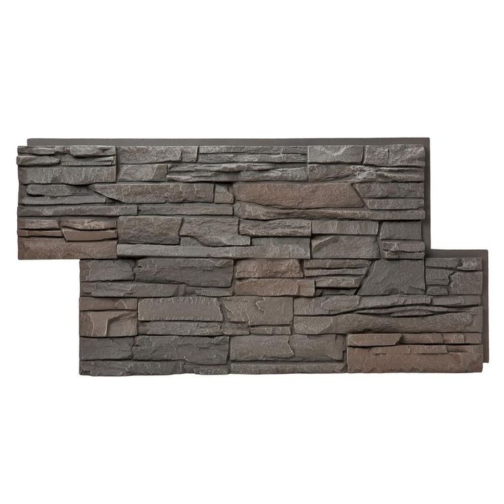 GenStone Stacked Stone Coffee 24 In X 42 In Faux Stone Siding Panel 4 Pack