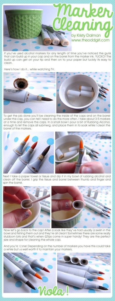 Copic Cleaning Tutorial | http://www.theoddgirl.com/2014/10/copic-cleaning-tutorial/