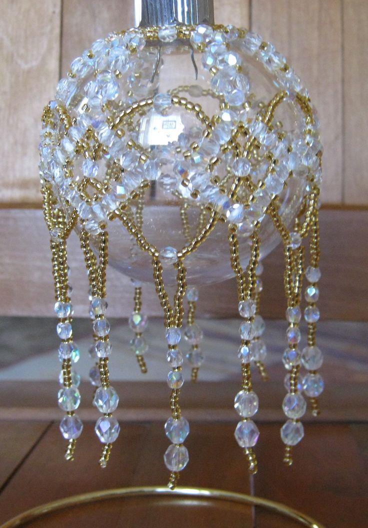 Glittering globe pattern by Cathy Lampole