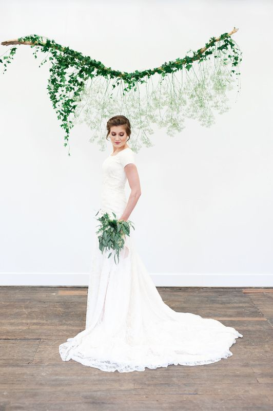 Modest Wedding Dresses With Sleeves Utah : Elizabeth cooper design modest wedding dress lace
