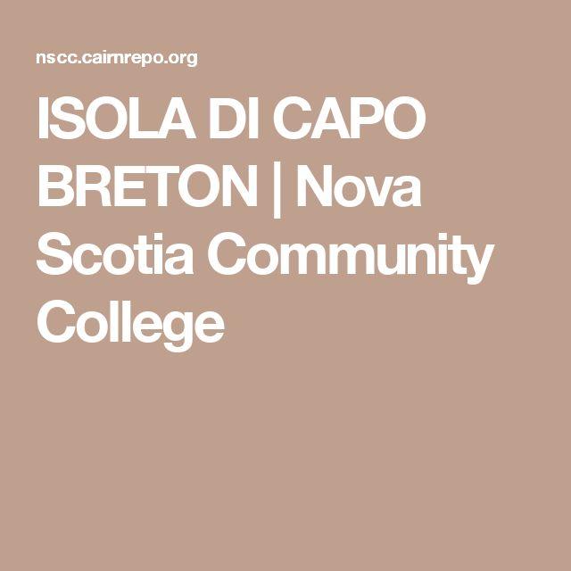 ISOLA DI CAPO BRETON | Nova Scotia Community College