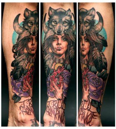 Un significado especial tatuaje lobo está reservado para las mujeres. La famosa historia de la loba que hizo subir a los fundadores de Roma, Rómulo y Remo, no es la única que muestra la conexión entre un lobo y una mujer