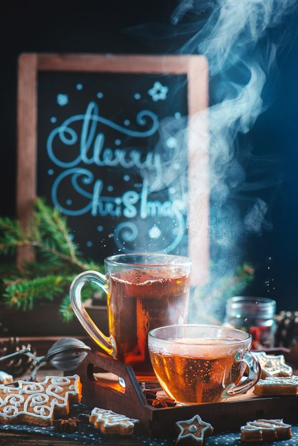 ~~Cozy Christmas (with tea and cookies) | food photography | by Dina Belenko~~