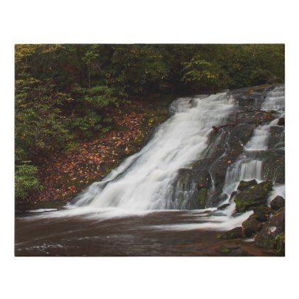 Indian Creek Falls Deep Creek Great Smoky Faux Canvas Print - decor gifts diy home & living cyo giftidea