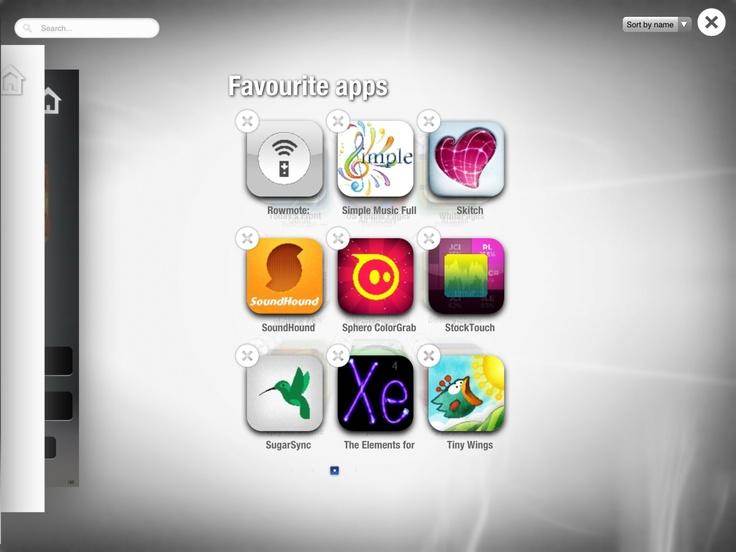 Filter, delete or sort your apps
